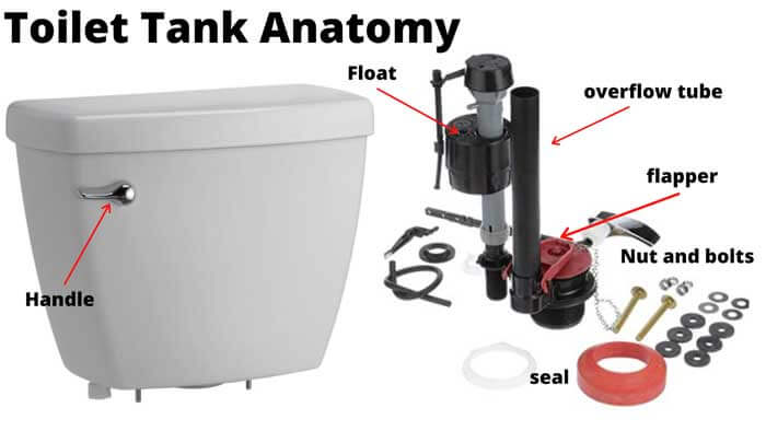 Parts of a Toilet Tank