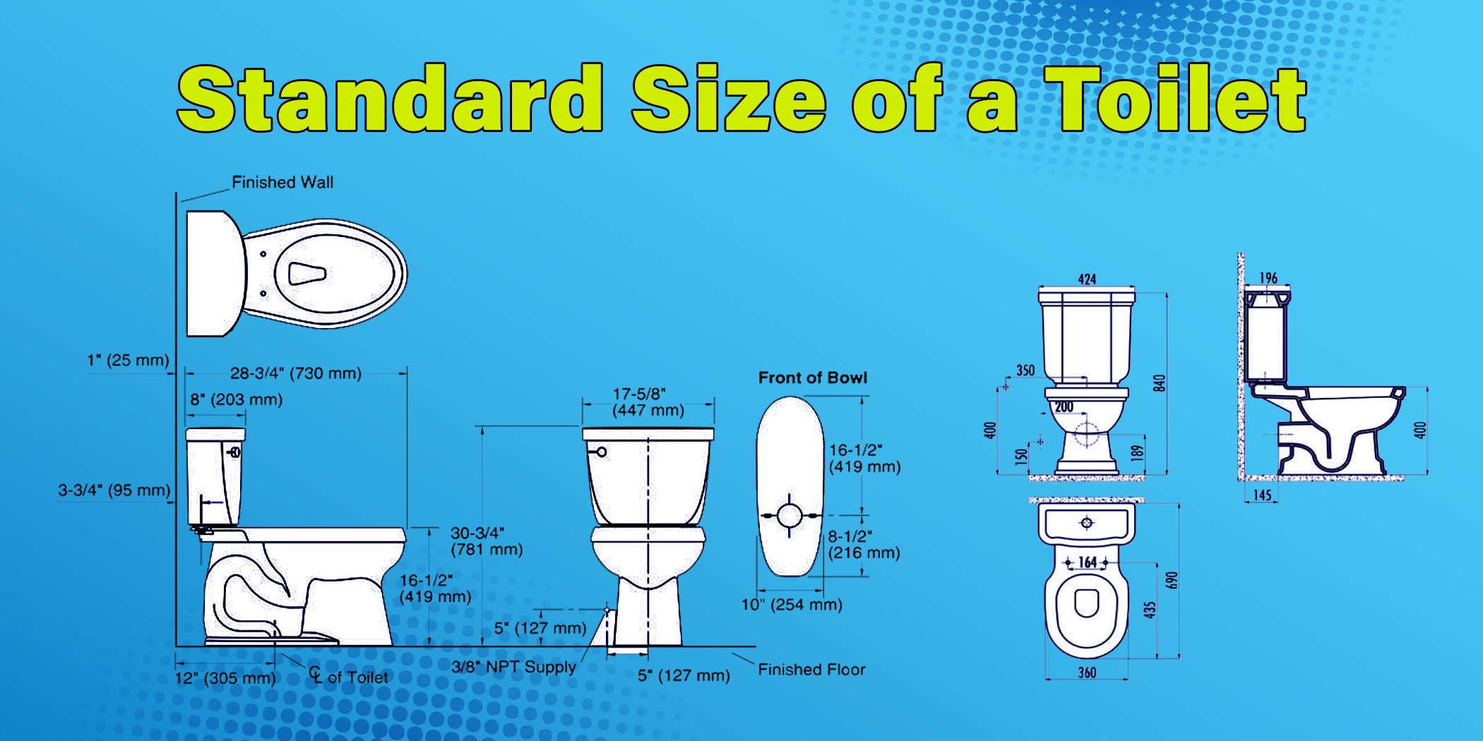 Standard Size of a Toilet